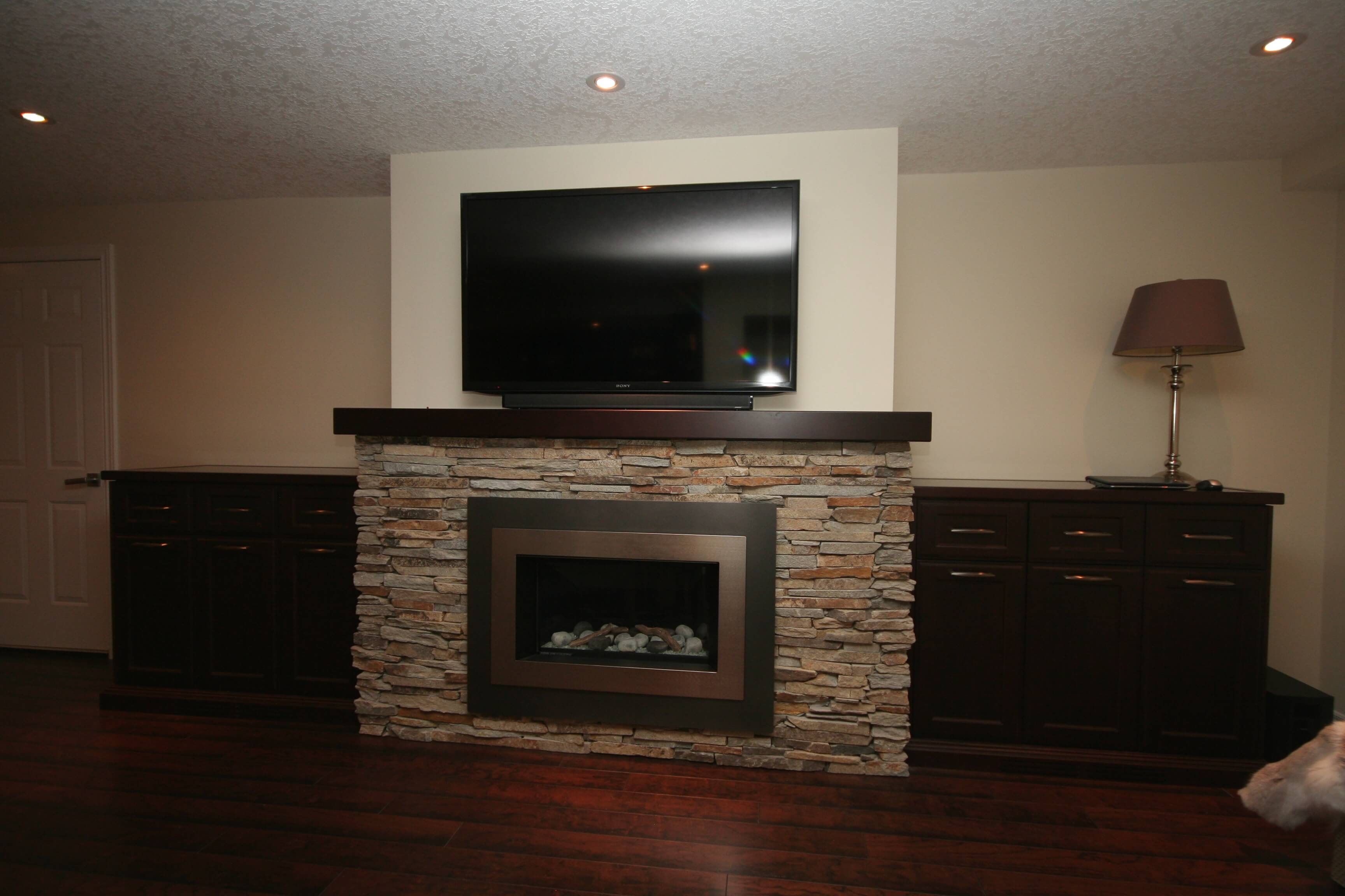 fireplace concrete in basement anthony renovation fireplaces tiles