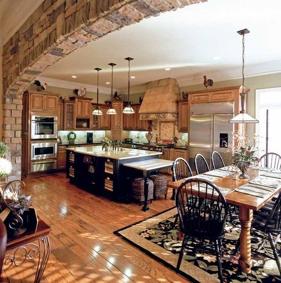 Why Not Use A Brick Arch To Frame Your Open Concept Kitchen? Thatu0027s What  These Homeowners Have Done With This Warm And Inviting Kitchen We Found On  ...